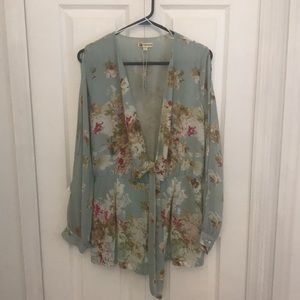 NWT Cotton Candy Mint Floral Romber